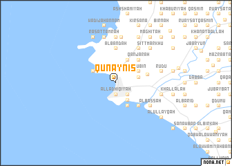 map of Qunayniş