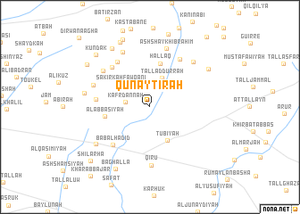 map of Qunayţirah