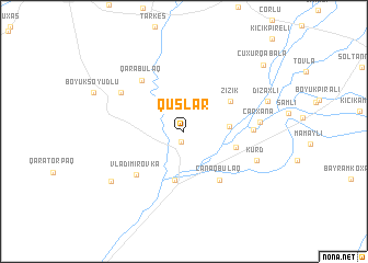 map of Quşlar