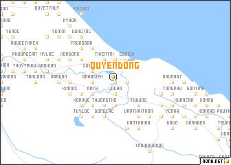 map of Quyên Dông