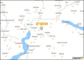 map of Qyqesh