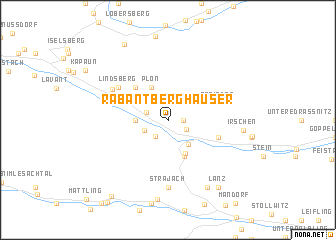map of Rabant Berghäuser