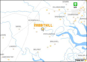 map of Rabbit Hill