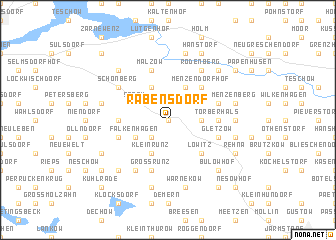 map of Rabensdorf