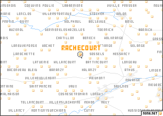 map of Rachecourt