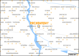 map of Rachów Nowy