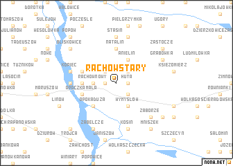 map of Rachów Stary