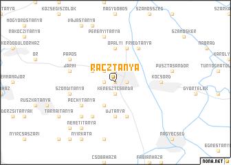 map of Rácztanya