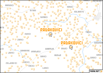 map of Radakovići