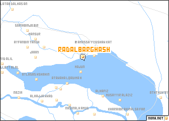map of Ra'd al Barghash