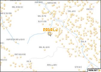 map of Radalj