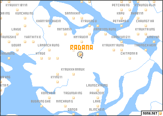 map of Radana