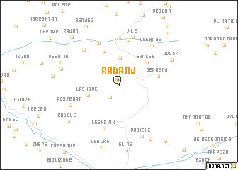 map of Radanj