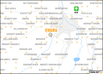 map of Radau