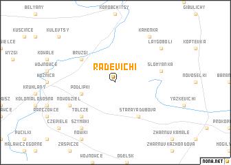 map of Radevichi