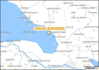 map of Rāḑī al Bishārah