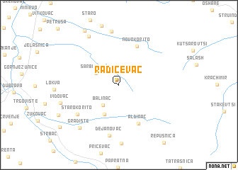 map of Radičevac