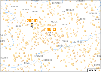 map of Radići