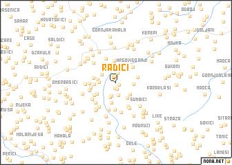 map of Radići