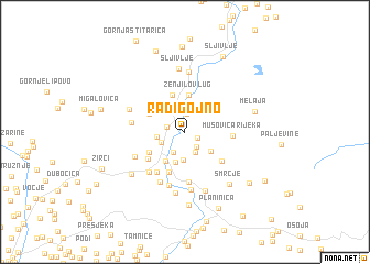 map of Radigojno