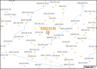 map of Radikiai