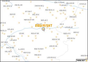 map of Radimisht