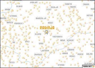 map of Radinja