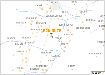 map of Radiovce