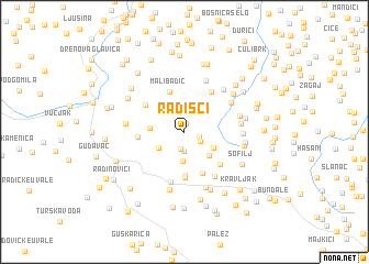 map of Radišći