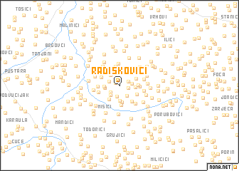 map of Radiškovići