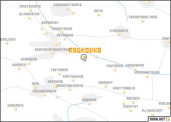 map of Rad\