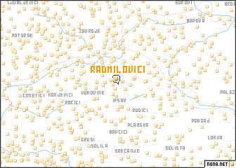 map of Radmilovići