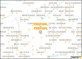 map of Radmühl