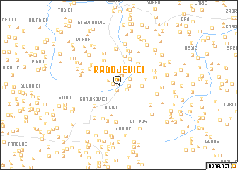 map of Radojevići