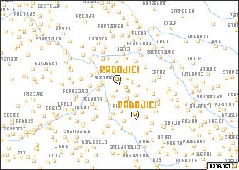 map of Radojići