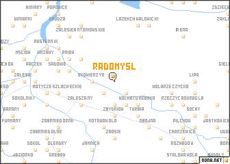 map of Radomyśl