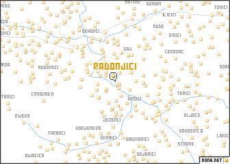 map of Radonjići
