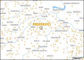 map of Radoševići