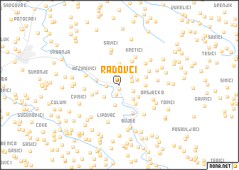 map of Radovci