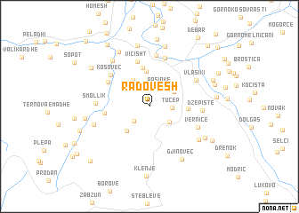 map of Radovesh