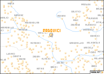 map of Radovići