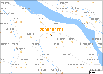 map of Răducăneni