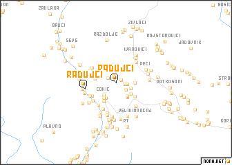 map of Radujci
