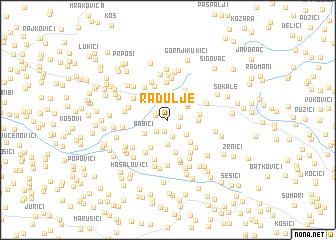 map of Radulje