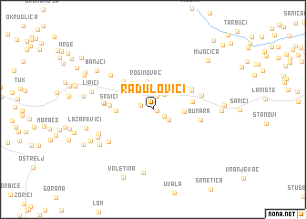 map of Radulovići