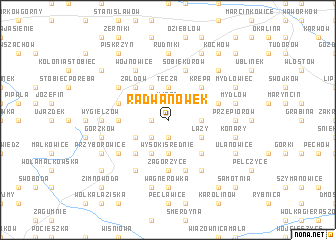 map of Radwanówek