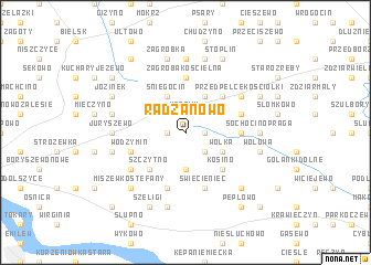 map of Radzanowo
