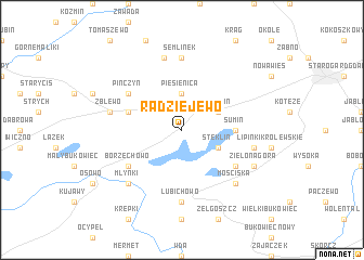 map of Radziejewo