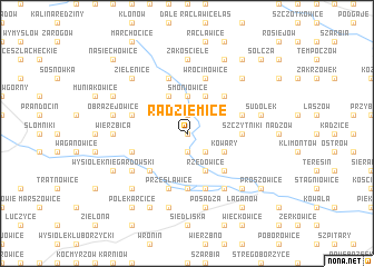 map of Radziemice