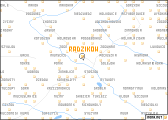 map of Radzików